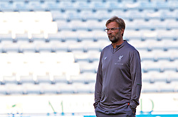 BLACKBURN, ENGLAND - Thursday, July 19, 2018: Liverpool's manager Jürgen Klopp during the pre-match warm-up before a preseason friendly match between Blackburn Rovers FC and Liverpool FC at Ewood Park. (Pic by Paul Greenwood/Propaganda)