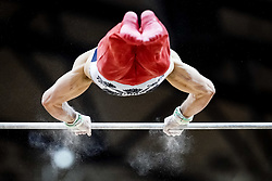 October 29, 2018 - Doha, Qatar - Samuel Mikulak of United States   during  High Bar, Team final for Men at the Aspire Dome in Doha, Qatar, Artistic FIG Gymnastics World Championships on October 29, 2018. (Credit Image: © Ulrik Pedersen/NurPhoto via ZUMA Press)