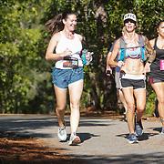 Photos of runners competing in the US Road Running Halyburton Park 2 Person Half Marathon Saturday September 21, 2019 at Halyburton Park in Wilmington, N.C.