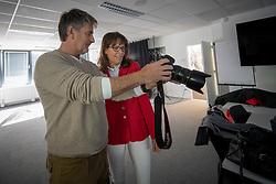 Henk van Cauwenbergh, Ann Carton<br /> Foto shoot met Henk van Cauwenbergh voor KBRSF - Zaventem 2018<br /> © Hippo Foto - Dirk Caremans<br /> 01/05/2018