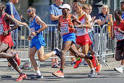 Abdi Nageeye op de marathon bij het EK atletiek in Berlijn op 12-8-2018