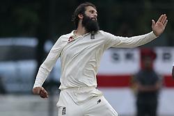 November 2, 2018 - Colombo, Sri Lanka - England cricketer Moeen Ali runs delivers a ball  during the match between Sri Lanka Board XI and England at the CCC ground, Colombo, Sri Lanka. Friday 2 , November 2018  (Credit Image: © Tharaka Basnayaka/NurPhoto via ZUMA Press)