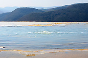 The Cascada Grande of Hierve el Agua begins at this mineral spring bubbling up through the top of the cliff.