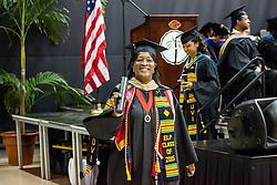 Erma L. Pemberton.  Fifty-first annual University of the Virgin Islands  Commencement Exercises.  UVI Sports & Fitness Center.  St. Thomas, VI.  14 May 2015.  © Aisha-Zakiya Boyd
