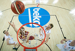 Stojan Gjuroski of Macedonia during basketball match between Netherlands and Macedonia at Day 2 in Group C of FIBA Europe Eurobasket 2015, on September 6, 2015, in Arena Zagreb, Croatia. Photo by Vid Ponikvar / Sportida