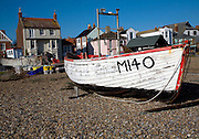 Fishing boats on the beach, Aldeburgh, Suffolk, England.