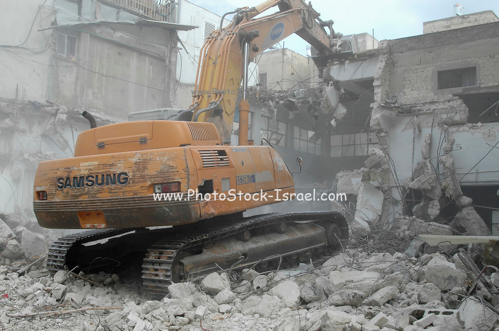 demolition of a building to make space for a new modern highrise
