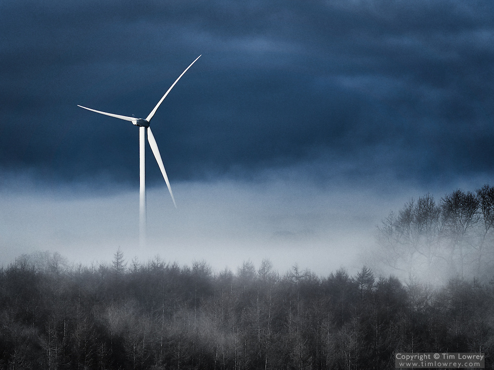 Wind Turbine in Mist