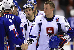 Marcel Hossa of Slovakia after ice-hockey game Slovenia vs Slovakia at Relegation  Round (group G) of IIHF WC 2008 in Halifax, on May 09, 2008 in Metro Center, Halifax, Nova Scotia, Canada. Slovakia won 5:1. (Photo by Vid Ponikvar / Sportal Images)