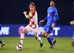 Zagreb, March 21, 2019  Luka Modric of Croatia during the UEFA Euro 2020 group E qualifying match between Croatia and Azerbaijan at the Maksimir stadium in Zagreb, Croatia, on March 21, 2019. Croatia won 2:1. (Credit Image: © Marko Prpic/Pixsell/Xinhua via ZUMA Wire)