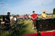 Shadow Armada practices in Sutton's Bay, Michigan on July 3, 2013.