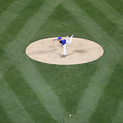 NEW YORK, NEW YORK - APRIL 11: Pitcher Steven Matz, New York Mets, pitching during the Miami Marlins Vs New York Mets MLB regular season ball game at Citi Field on April 11, 2016 in New York City. (Photo by Tim Clayton/Corbis via Getty Images)