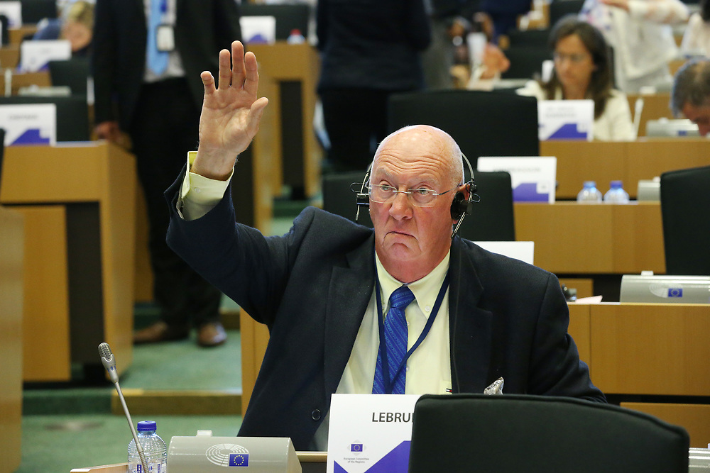 11 May 2017, 123rd Plenary Session of the European Committee of the Regions <br /> Belgium - Brussels - May 2017 <br /> <br /> Mr LEBRUN Michel, Member of Viroinval Municipal Council, Belgium<br /> © European Union / Patrick Mascart