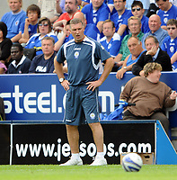 Leicester City/Swansea City Coca Cola Championship 08.08.09 <br /> Photo: Tim Parker Fotosports International<br /> Nigel Pearson Leicester City manager during the game