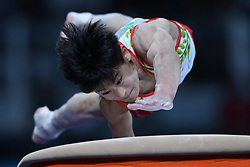 BUENOS AIRES, Oct. 12, 2018  Gold medalist Kitazono Takeru of Japan competes during the vault event of artistic gymnastics men's all-around final at the 2018 Summer Youth Olympic Games in Buenos Aires, Argentina on Oct. 11, 2018. (Credit Image: © Li Jundong/Xinhua via ZUMA Wire)