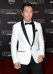 Celebrity arrivals at the world premiere of Walt Disney Pictures and Lucasfilm's 'Rogue One: A Star Wars Story' at the Pantages Theatre in Hollywood, California. 11 Dec 2016 Pictured: Donnie Yen. Photo credit: @parisamichelle / MEGA TheMegaAgency.com +1 888 505 6342