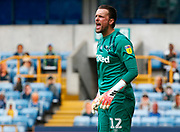Derby County's Ben Hamer in action during EFL Sky Bet Championship between Millwall and Derby County at The Den Stadium, Saturday, June 20, 2020, in London, United Kingdom. (ESPA-Images/Image of Sport)