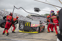 July 22, 2018 - Loudon, New Hampshire, United States of America - Jamie McMurray (1) makes a pit stop during the Foxwoods Resort Casino 301 at New Hampshire Motor Speedway in Loudon, New Hampshire. (Credit Image: © Stephen A. Arce/ASP via ZUMA Wire)