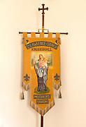 Church of Saint Lawrence, Knodishall, Suffolk, England, UK Mothers Union banner