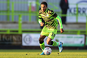Forest Green Rovers Jevani Brown, on loan from Colchester United(16) on the ball during the EFL Sky Bet League 2 match between Forest Green Rovers and Salford City at the New Lawn, Forest Green, United Kingdom on 18 January 2020.