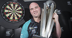 Rob Cross with the World Darts Championship Trophy - 2 Jan 2018