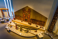 Overview of the Northwest Coast Indian Art collection in the Northern Building of the Denver Art Museum, Civic Center Cultural Complex, Denver, Colorado USA