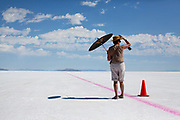 Image of a spectator enjoying World of Speed at the Bonneville Salt Flats, Utah, American Southwest by Randy Wells