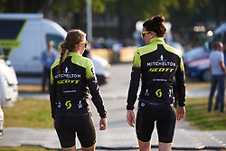 Jessica Allen (AUS) and Sarah Roy (AUS) at La Course by Le Tour de France 2018, a 112.5 km road race from Annecy to Le Grand Bornand, France on July 17, 2018. Photo by Sean Robinson/velofocus.com