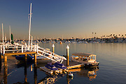 Scenic Balboa Island In Newport Beach Orange County, California