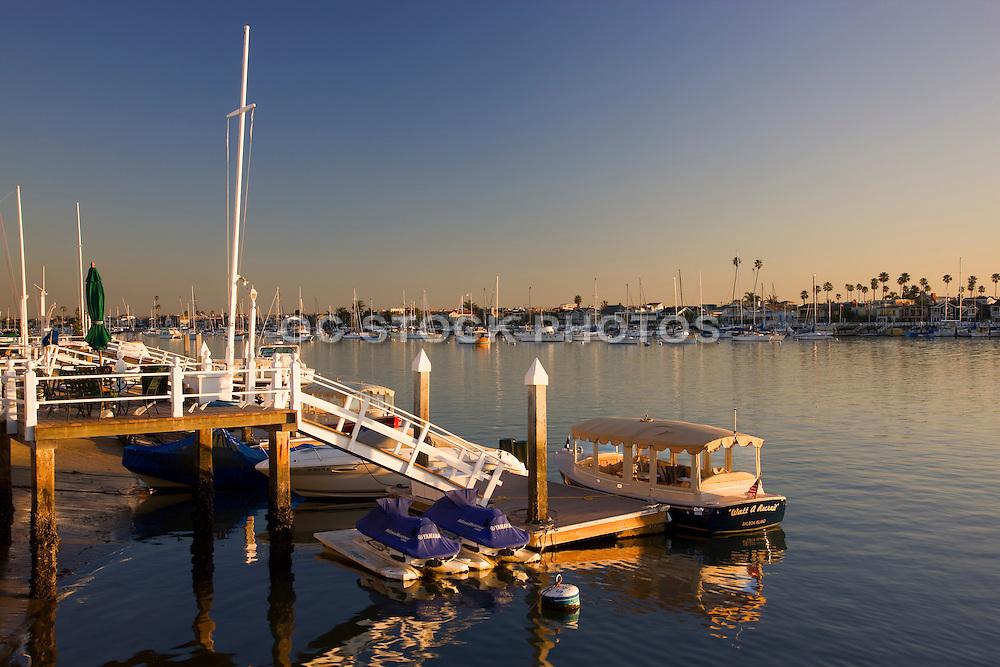 Scenic Balboa Island In Newport Beach Orange County, California