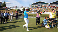 Massive cheers as Bernd Wiesberger (AUT) walks into the Prize Presentation during the Final Round of the 2015 Alstom Open de France, played at Le Golf National, Saint-Quentin-En-Yvelines, Paris, France. /05/07/2015/. Picture: Golffile | David Lloyd<br /> <br /> All photos usage must carry mandatory copyright credit (© Golffile | David Lloyd)