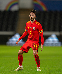 SWANSEA, WALES - Thursday, November 12, 2020: Wales' substitute Josh Sheehan during an International Friendly match between Wales and the USA at the Liberty Stadium. (Pic by David Rawcliffe/Propaganda)