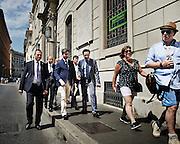 Andrea Orlando per le strade del centro di Roma,  24 luglio 2015.  Christian Mantuano / OneShot <br /> <br /> Andrea Orlando walks the streets the down town of Rome, 24 July 2015. Christian Mantuano / OneShot