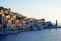 Grece, Dodecanese, ile de Symi, Hora, le port de Gialos // Greece, Dodecanese, Symi island, Gialos harbour