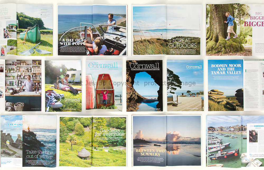 Destination and accomodation guides from 2009 to the present. Print and web use. www.visitcornwall.com