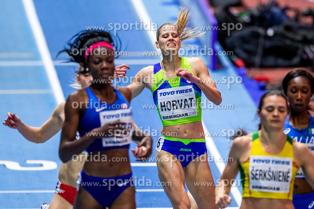 BIRMINGHAM, ENGLAND - MARCH 02: Anita Horvat of Slovenia competes during round 1 of the Women's 400m at the IAAF World Indoor Championships at Arena Birmingham on March 2, 2018 in Birmingham, England. Photo by Ronald Hoogendoorn / Sportida