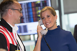 September 11, 2018 - London, London, UK - London, UK.  Sophie Countess of Wessex at the 14th Annual BGC Charity Day held on the trading floor of BGC Partners in Canary Wharf, to raise money for charitable causes in commemoration of BGC's 658 colleagues and the 61 Eurobrokers employees lost on 9/11. (Credit Image: © Vickie Flores/London News Pictures via ZUMA Wire)