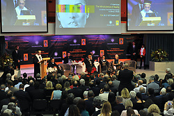 """Magistralis Degree at the Dalai Lama 21/09/2017-Pisa-Italy event by the lama At the Palazzo dei Congressi in Pisa on the last day of """"The Mindscience of Reality"""" where with the Ceremony for the Graduation of the Degree Magistralis Honoris Cause in Clinical Psychology and Health delivered to Tenzin Gyatso XIV Dalai Lama. In Photos: Crowd at SS Dalai Lama Arch. Photos RobertoCappa photojournalism."""