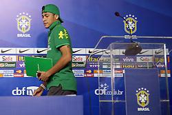 Neymar Jr. durante coletiva de imprensa da Seleção Brasileira no Hotel Brasíla Palace, em Brasília, DF. A seleção enfrenta o Japão no próximo dia 15 na abertura da Copa das Confederações. FOTO: Jefferson Bernardes/Preview.com