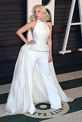 February 29, 2016 - Beverly Hills, CA, United States - 28 February 2016 - Beverly Hills, California - Lady Gaga. 2016 Vanity Fair Oscar Party hosted by Graydon Carter following the 88th Academy Awards held at the Wallis Annenberg Center for the Performing Arts. Photo Credit: AdMedia (Credit Image: © AdMedia via ZUMA Wire)