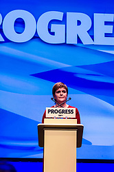 Pictured: First Minister Nicola Sturgeon<br /> The members of the SNP gathered in the Scottish Events Centre in Glasgow for their annual conference.<br /> <br /> Ger Harley | EEm 10 October 2017