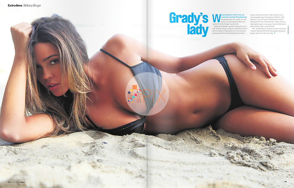 'Extra Time' with Brittany Binger in the latest issue of Sport magazine, UK.  <br /> <br /> Image from our shoot 'Brittany Binger :: beach house': http://www.apixsyndication.com/gallery/Brittany-Binger-beach-house/G0000oI3Z0KnQFZU/C0000sY3gvsmnUIM