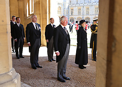 Peter Phillips, the Duke of York, the Earl of Wessex, the Prince of Wales and the Princess Royal ahead of the funeral of the Duke of Edinburgh at Windsor Castle, Berkshire. Picture date: Saturday April 17, 2021.
