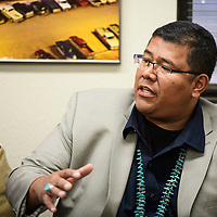 Dineh Benally addresses the Navajo Board of Election Supervisors, Thursday Oct. 25 at their regular meeting in Window Rock over concerns about Jonathan Nez and the current presidential election.