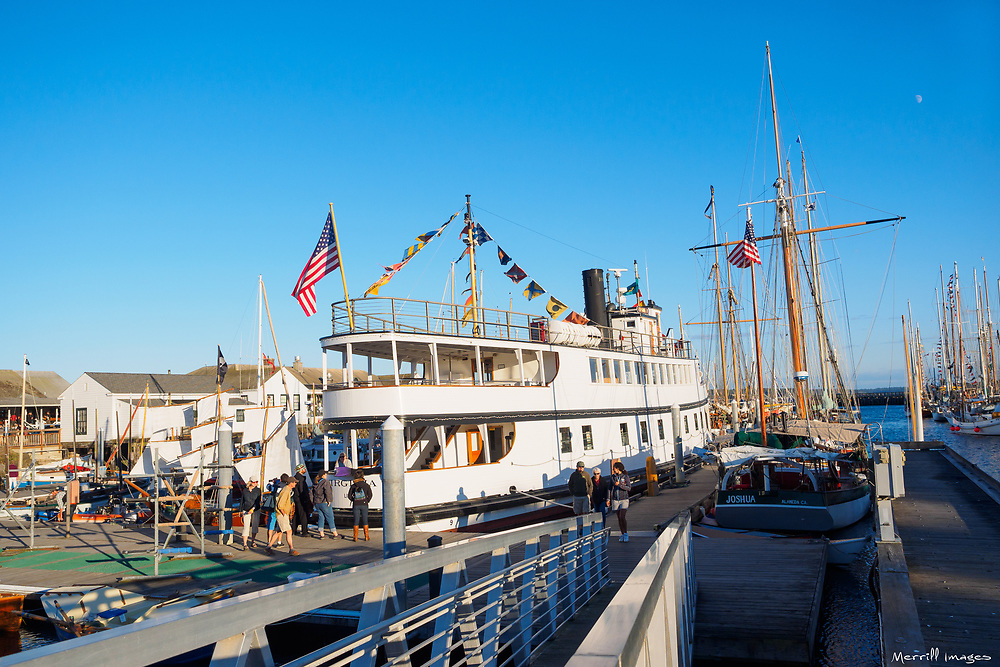 North America, United States, Washington, Port Townsend. Sailboats at a pier.