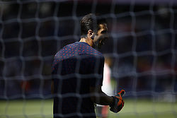 August 25, 2018 - Paris, France - Gianluigi Buffon during the French L1 football match Paris Saint-Germain (PSG) vs Angers (SCO), on August 25, 2018 at the Parc des Princes in Paris. (Credit Image: © Mehdi Taamallah/NurPhoto via ZUMA Press)