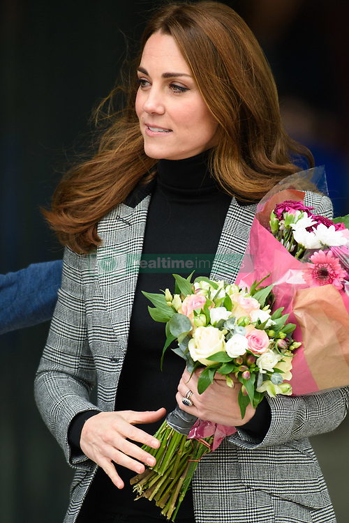 The Duchess of Cambridge leaves after a visit to Coach Core Essex in Basildon, Essex. Picture date: Tuesday October 30th, 2018. Photo credit should read: Matt Crossick/ EMPICS Entertainment.