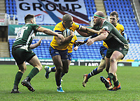Rugby Union - 2019 / 2020 Gallagher Premiership - London Irish vs. Bath<br /> <br /> Jonathan Joseph of Bath brings the ball forward for Will Chudley (right) to score his first half try  at Madejski Stadium.<br /> <br /> COLORSPORT/ANDREW COWIE