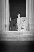 The Lincoln Memorial is an American memorial built to honor the 16th President of the United States, Abraham Lincoln. It is located on the National Mall in Washington, D.C. The architect was Henry Bacon, the sculptor of the main statue (Abraham Lincoln, 1920) was Daniel Chester French, and the painter of the interior murals was Jules Guerin. It is one of several monuments built to honor an American president.