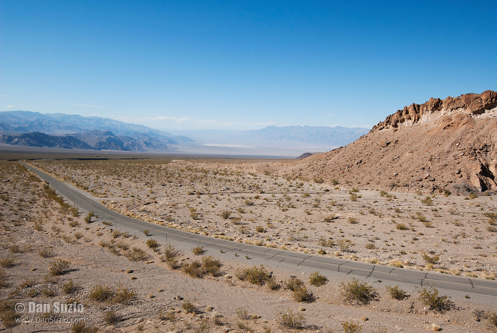 View of Death Valley from the eastern Panamint Range, between Towne Pass and Emigrant. Death Valley National Park, California